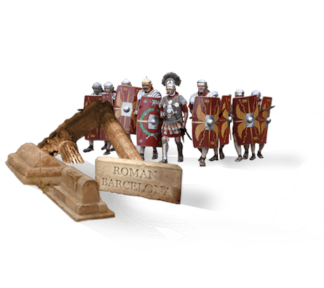 Roman Barcelona, treasure hunt in Barcelona, role playing game, investigation, suspense, history, game, fun, tourism, discover, teambuilding,